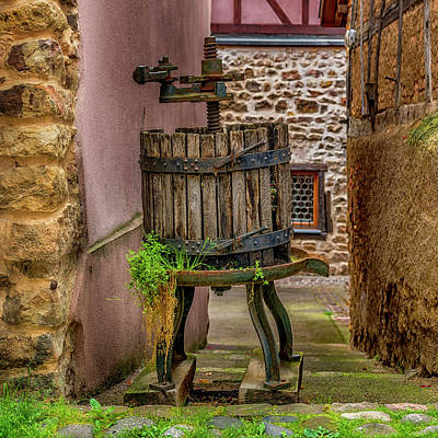 Photograph - Grape Press Eguisheim France_dsc7267_16 by Greg Kluempers