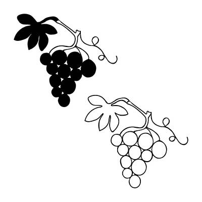Grape Shape Art Print