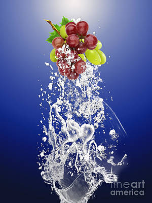 Grape Splash Art Print
