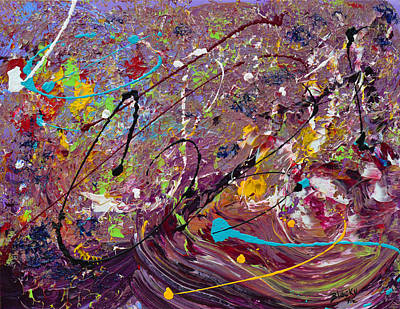 Grape Stomp Art Print by Donna Blackhall