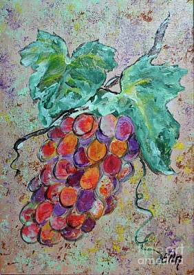 Painting - Grape Vine Fiesta by Ella Kaye Dickey