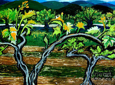 Painting - Grape Vines In Augusta Wine Country by Genevieve Esson