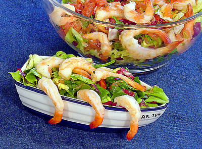 Photograph - Grapefruit And Shrimp Salad by Robert Meyers-Lussier