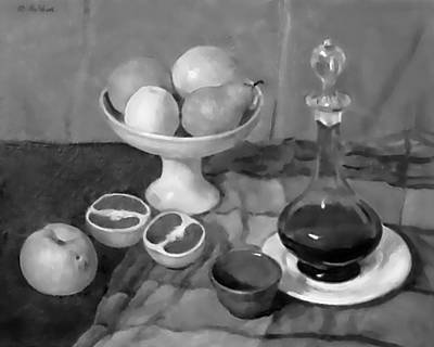 Painting - Grapefruit And Wine by Robert Holden