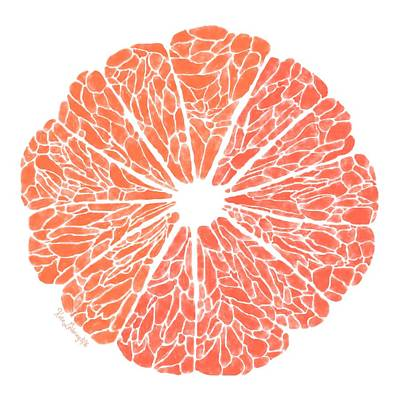 Grapefruit Digital Art - Grapefruit To Suit by Kate LeVering
