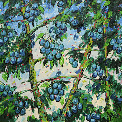 Mirko Painting - Grapes 0442 by Mirko Kovacevic