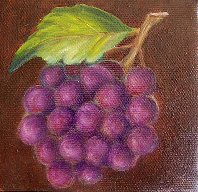 Painting - Grapes 9 by Susan Dehlinger