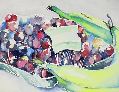 Painting - Grapes And Banana  by Carol Montoya