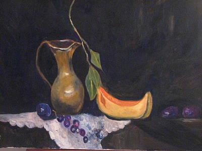 Grapes And Cantaloupe Original by Brenda Luczynski