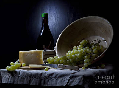 Photograph - Grapes And Cheese by Irina No