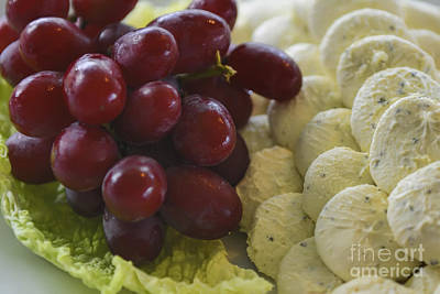 Photograph - Grapes And Cream Cheese by Olga Hamilton