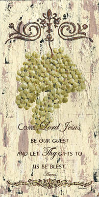 Grapes And Grace 1 Print by Debbie DeWitt