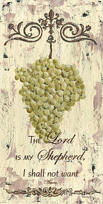 Grapes And Grace 2 Print by Debbie DeWitt