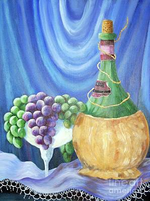 Painting - Grapes And Lace by Janna Columbus