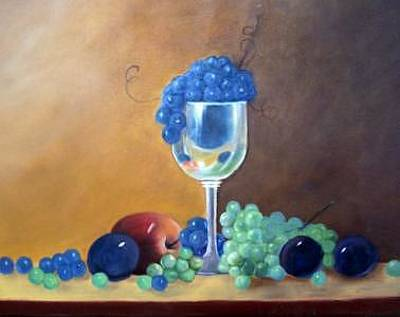 Painting - Grapes And Plums by Susan Dehlinger