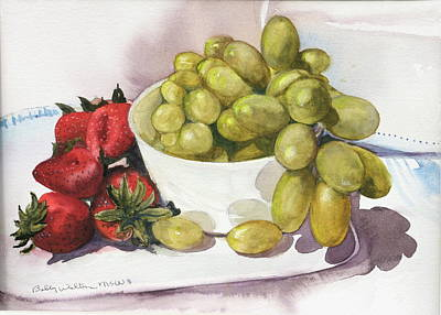 Grapes And Strawberries Art Print
