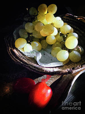 Photograph - Grapes And Tomatoes by Silvia Ganora