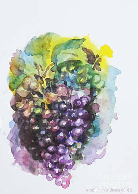 Painting - Grapes by Asha Sudhaker Shenoy