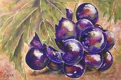 Grapes Original by Colette Acra