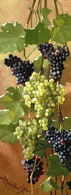 Wine Oil Painting - Grapes by Edward Chalmers Leavitt