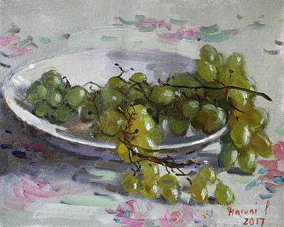 Grape Wall Art - Painting - Grapes From Lida's Garden by Ylli Haruni
