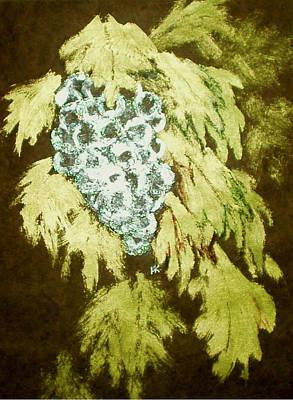 Wall Art - Painting - Grapes by Helen Krummenacker