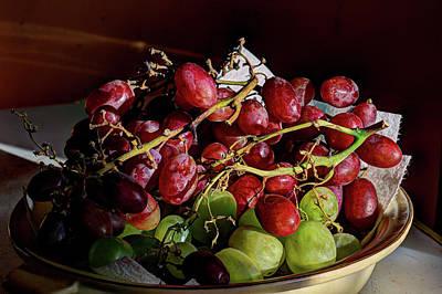 Digital Art - Grapes In Morning Sun by Aliceann Carlton