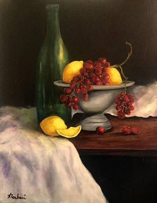 Grapes In Pewter  Original by Anne Barberi