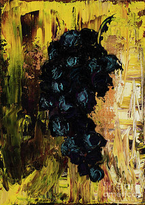 Concord Grapes Painting - Grapes by Jodi Monahan