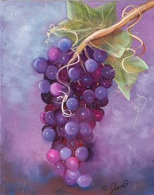 Grapes Art Print by Joni McPherson