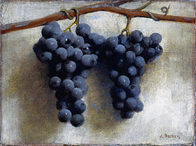 Painting - Grapes by Joseph Decker