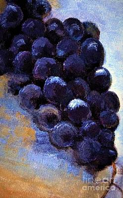 Painting - Grapes Laying Around Painting by Lisa Kaiser