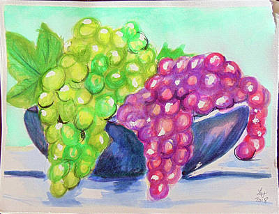 Painting - Grapes by Loretta Nash