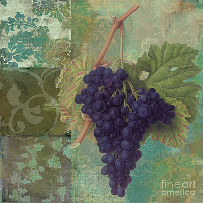 Purple Grapes Painting - Grapes Margaux by Mindy Sommers