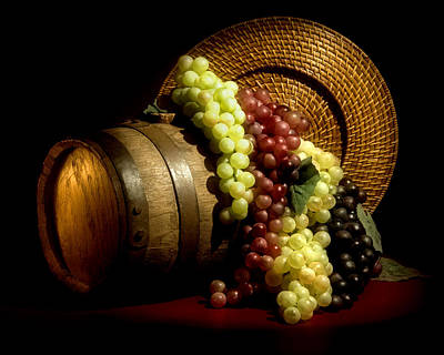 Barrel Photograph - Grapes Of Wine by Tom Mc Nemar
