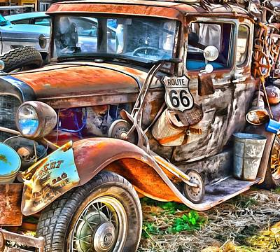 Photograph - Grapes Of Wrath Era Funky Truck by Floyd Snyder