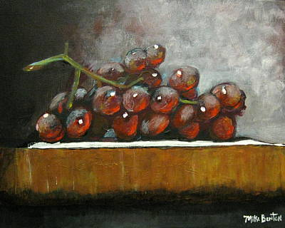 Painting - Grapes On A Block by Mike Benton
