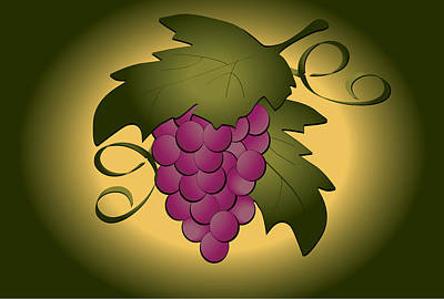 Grapes Art Print by Pam Beal