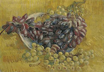 Painting - Grapes Paris, September - October 1887 Vincent Van Gogh 1853  1890 by Artistic Panda