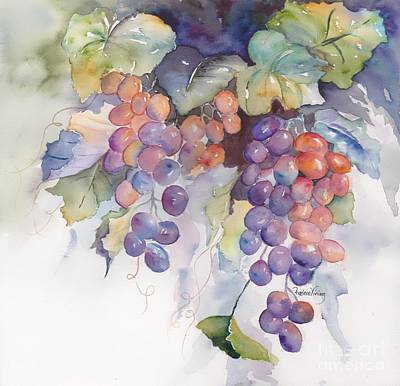 Concord Painting - Grapes by Raelene Vining