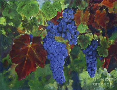 Painting - Grapes Ready For Harvest by Donna Walsh