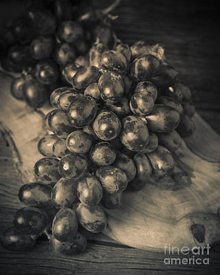 Photograph - Grapes Still Life With Olive Board by Edward Fielding
