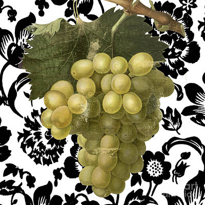 White Grapes Painting - Grapes Suzette II by Mindy Sommers