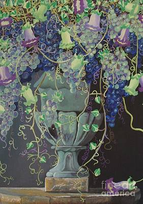 Painting - Grapes Vase II by Milagros Palmieri