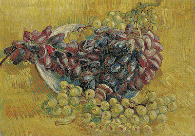 Blueberries Painting - Grapes by Vincent van Gogh