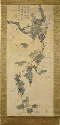 Grapevines Painting - Grapevine And Squirrels by MotionAge Designs
