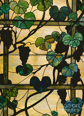 Grapevine Panel Art Print by Louis Comfort Tiffany
