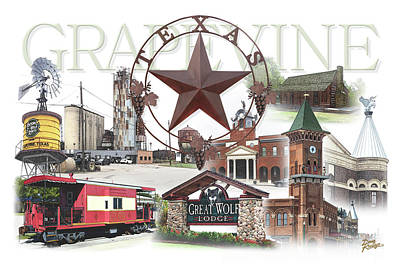Digital Art - Grapevine Texas by Doug Kreuger