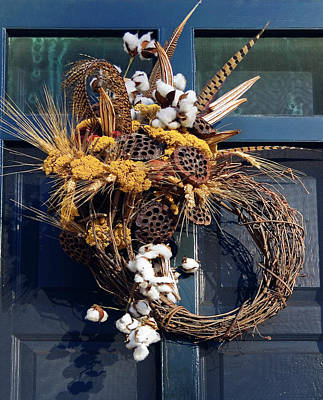 Photograph - Grapevine Wreath by Sally Weigand