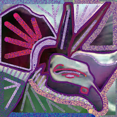 Easter Bunny - Graphic Accidental Art Discovery  ANGEL Bird GoodLuck symbol created by Navin Joshi. by Navin Joshi